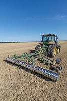 Subsoiling wheat stubble - Lincolnshire, September