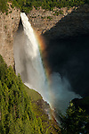 Rainbow at Helmcken Falls on the Murtle River in Wells Gray Provincial Park