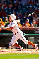 Mark Payton #2 of the Texas Longhorns follows through on his swing against the Arkansas Razorbacks at Minute Maid Park on March 4, 2012 in Houston, Texas.  The Razorbacks defeated the Longhorns 7-3.  Brian Westerholt / Four Seam Images
