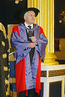 5/10/'06.The Taoiseach  Mr. Bertie Ahern T.D at the conferring by the National University of Ireland of a Degree of Doctor of Laws honoris causa in Dublin Castle today..Pic Collins Photos..