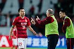 Guangzhou Evergrande Head Coach Luiz Felipe Scolari (L) talks to Guangzhou Forward Gao Lin (L) during the AFC Champions League 2017 Group G match between Guangzhou Evergrande FC (CHN) vs Kawasaki Frontale (JPN) at the Tianhe Stadium on 14 March 2017 in Guangzhou, China. Photo by Marcio Rodrigo Machado / Power Sport Images