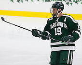 Eric Robinson (Dartmouth - 19) - The Harvard University Crimson tied the visiting Dartmouth College Big Green 3-3 in both team's first game of the season on Saturday, November 1, 2014, at Bright-Landry Hockey Center in Cambridge, Massachusetts.