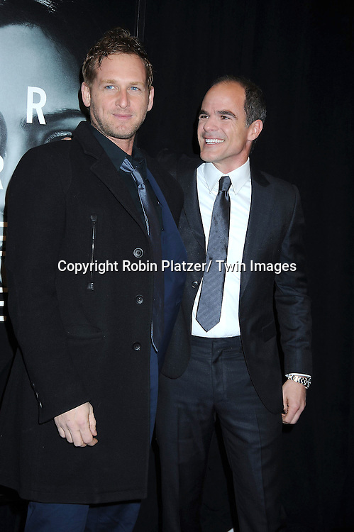 """Josh Lucas and Michael Kelly attending The World Premiere of """" The Adjustment Bureau"""" on February 14, 2011.at The Ziegfeld Theatre in New York City..Matt Damon and Emily Blunt are the stars of the movie"""