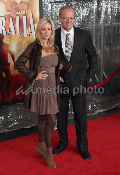 24 November 2008- New York, NY- Camile and Kelsey Grammer arriving to the New York Premiere of Australia.<br /> Photo Credit: Paul Zimmerman/AdMedia