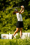 STILLWATER, OK - MAY 21: Andrea Lee of Stanford drives from the second tee box during the Division I Women's Golf Individual Championship held at the Karsten Creek Golf Club on May 21, 2018 in Stillwater, Oklahoma. (Photo by Shane Bevel/NCAA Photos via Getty Images)