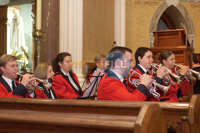 Members of The Lourdes Brass Band at The Festival of Song in The Domincan Church,Sponcored by Drogheda Concentrates.