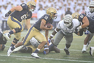Annapolis, MD - September 8, 2018: Navy Midshipmen quarterback Malcolm Perry (10) runs for a first down during the game between Memphis and Navy at  Navy-Marine Corps Memorial Stadium in Annapolis, MD.   (Photo by Elliott Brown/Media Images International)