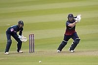 Steven Croft of Lancashire CCC drives through the covers during Middlesex vs Lancashire, Royal London One-Day Cup Cricket at Lord's Cricket Ground on 10th May 2019