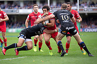 Toulouse Rugby's Maxime Mermoz in action during todays match<br /> <br /> <br /> Photographer Bob Bradford/CameraSport<br /> <br /> European Rugby Champions Cup - Bath Rugby v Toulouse - Saturday 13th October 2018 - The Recreation Ground - Bath<br /> <br /> World Copyright © 2018 CameraSport. All rights reserved. 43 Linden Ave. Countesthorpe. Leicester. England. LE8 5PG - Tel: +44 (0) 116 277 4147 - admin@camerasport.com - www.camerasport.com