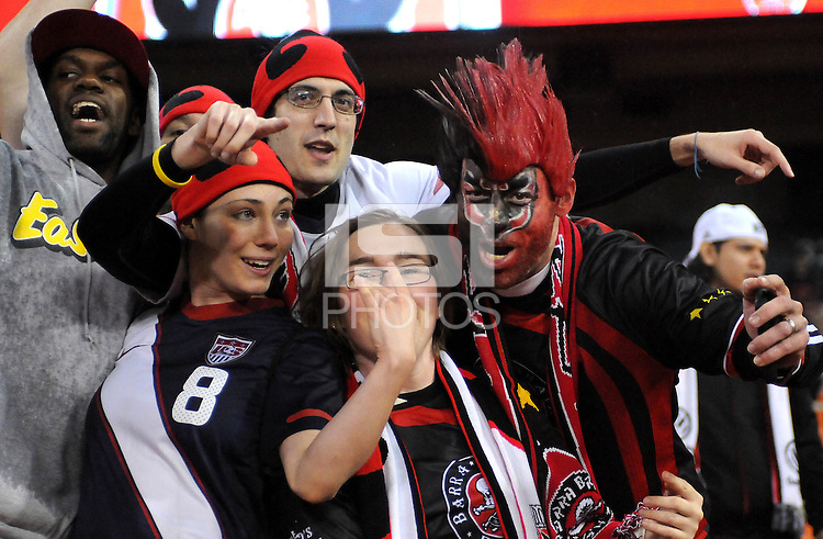 D.C. United fans. D.C. United defeated The Houston Dynamo 3-2 at RFK Stadium, Saturday April 28, 2012.