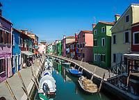 Canal on Burano Island, Italy