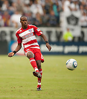 CARSON, CA – OCTOBER 24: FC Dallas defender Jackson Goncalves during a soccer match at the Home Depot Center, October 24, 2010 in Carson, California. Final score LA Galaxy 2, Dallas FC 1.