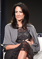 """PASADENA - JANUARY 13: Executive Producers Francie Calfo during the """"GENIUS: PICASSO"""" panel at the NATIONAL GEOGRAPHIC portion of the 2018 Winter TCA Press Tour at the Langham Huntington Hotel on January 13, 2018, in Pasadena, California. (Photo by Frank Micelotta/National Geographic/PictureGroup)"""