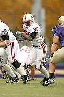 11 November 2006: Anthony Kimble during Stanford's 20-3 win over the Washington Huskies in Seattle, WA.