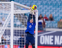 , FL - : Ashlyn Harris #18 of the United States makes a save during a game between  at  on ,  in , Florida.