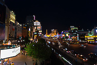 The Strip In Las Vegas with hotels and casinos illumination at night