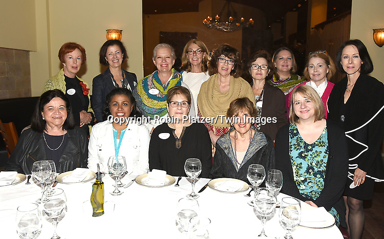The Board and Carol Sulcoski attend the Big Apple Knitters Guild 25th Annual Luncheon Gala on September 24, 2016 at Kellari Taverna in New York City, New York, USA. <br /> <br /> photo by Robin Platzer/Twin Images<br />  <br /> phone number 212-935-0770