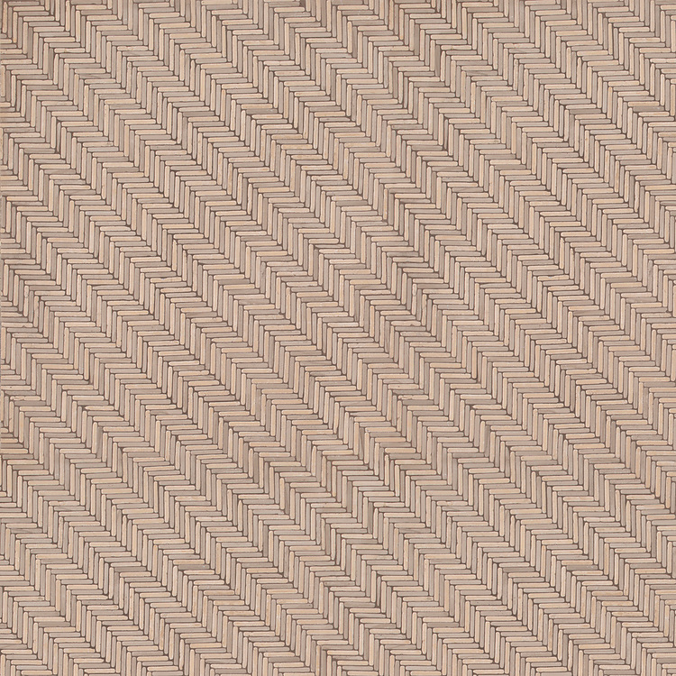 Tweed, a hand-cut tumbled mosaic, shown in Lagos Gold and Driftwood, is part of the Tissé™ collection for New Ravenna.
