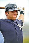 5 March 2011: New York Yankees' catcher Austin Romine awaits his turn in the batting cage prior to a Spring Training game against the Washington Nationals at George M. Steinbrenner Field in Tampa, Florida. The Nationals defeated the Yankees 10-8 in Grapefruit League action. Mandatory Credit: Ed Wolfstein Photo