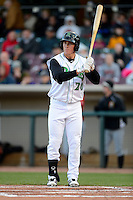 Dayton Dragons outfielder Jeff Gelalich #20 during a game against the Bowling Green Hot Rods on April 20, 2013 at Fifth Third Field in Dayton, Ohio.  Dayton defeated Bowling Green 6-3.  (Mike Janes/Four Seam Images)