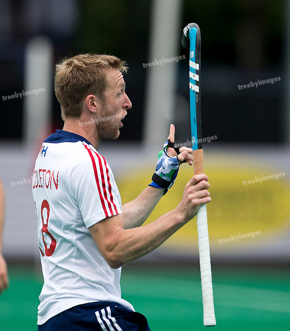 23/06/2015<br /> HWL Semi Final Antwerp Belgium 2015<br /> Ireland v Great Britain Men<br /> Barry Middleton<br /> Photo: Grant Treeby