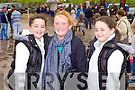 Smiles all round for twins Christina and Ellen Tydings with fellow local girl Sarah Jane Carmody enjoying the horse racing last Sunday afternoon in Asdee.