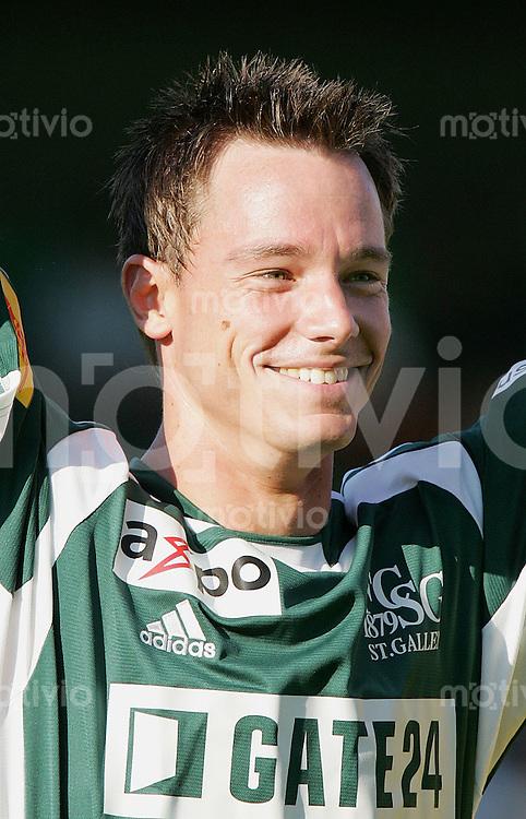 Fussball International Testspiel FC St. Gallen - Hertha BSC Berlin Frank Wiblishauser (FC SG), Portraet