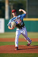 Florida Fire Frogs starting pitcher Joey Wentz (26) delivers a pitch during a game against the St. Lucie Mets on April 19, 2018 at Osceola County Stadium in Kissimmee, Florida.  St. Lucie defeated Florida 3-2.  (Mike Janes/Four Seam Images)
