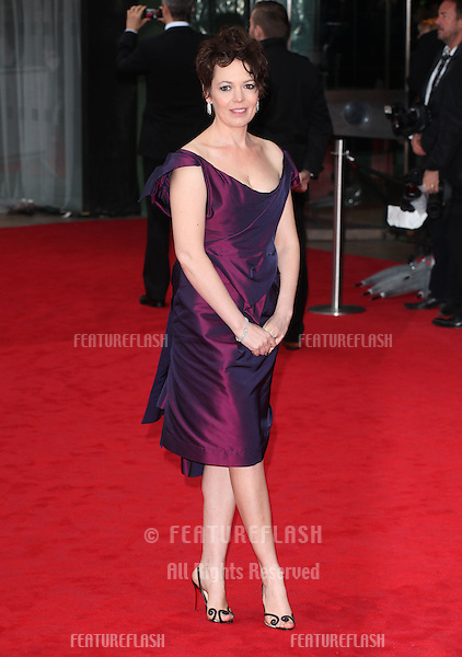 Olivia Coleman arriving for the TV BAFTA Awards 2013, Royal Festival Hall, London. 12/05/2013 Picture by: Alexandra Glen / Featureflash