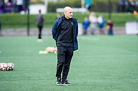 Boston, MA - Sunday May 07, 2017: Paul Riley prior to warmups before a regular season National Women's Soccer League (NWSL) match between the Boston Breakers and the North Carolina Courage at Jordan Field.