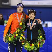 SPEEDSKATING: CALGARY: Olympic Oval, 26-02-2017, ISU World Sprint Championships, World Champions Sprint Kai Verbij (NED) & Nao Kodaira (JPN), ©photo Martin de Jong