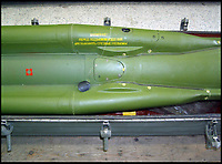 BNPS.co.uk (01202 558833)<br /> Pic: Brightwells/BNPS<br /> <br /> From Russia with love...SAM 6 missile anyone?<br /> <br /> At a time when Anglo-Russian relations are at an all-time low, an enormous Soviet missile has been launched and is heading for Britain.<br /> <br /> But before Brits start heading for the nuclear fall out shelter, the 19ft long surface-to-air rocket is inert and is now a highly unusual antique <br /> <br /> The Cold War-era 2K12 Kub (SAM 6 in the west) missile that had a top speed of 1,345mph and a range of 45,000ft is to be sold by auctioneers Brightwells of Bicester, Oxon.<br /> <br /> The rocket is currently in transit from Russia to the UK at the moment...by ship.