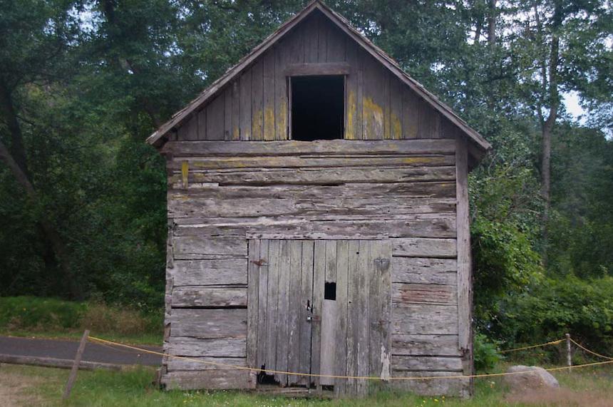 Historic Building at San Juan Coumty Park, San Juan Island, Washington, US