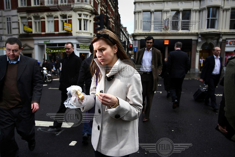 Genia Murray works as an accountant in the City of London. The UK went into recession in the final quarter of 2008 as the City was hit hard by the global credit crunch.