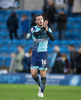 Michael Harriman of Wycombe Wanderers applauds the support after his teams loss during the Sky Bet League 2 match between Wycombe Wanderers and Crawley Town at Adams Park, High Wycombe, England on 25 February 2017. Photo by Andy Rowland / PRiME Media Images.
