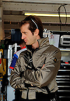 Nov. 13, 2009; Avondale, AZ, USA; Former formula one driver Jarno Trulli in the NASCAR Sprint Cup Series garage during practice for the Checker O'Reilly Auto Parts 500 at Phoenix International Raceway. Mandatory Credit: Mark J. Rebilas-