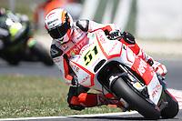 14.06.2013 Barcelona, Spain. Gran Premi Aperol de Catalunya. Free practice 2. Picture show Michele Pirro ridding Ducati at Circuit de Catalunya
