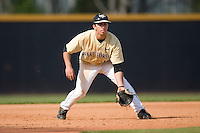 Third baseman Carlos Lopez #12 of the Wake Forest Demon Deacons on defense versus the Boston College Eagles at Wake Forest Baseball Park April 11, 2009 in Winston-Salem, NC. (Photo by Brian Westerholt / Four Seam Images)