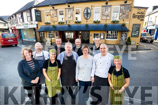 Staff at the Brogue Inn, Tralee, from left: Breda O'Grady, Emmett Rumgay, Amel Bentoumi, Vinnie Murphy, Kevin Cotter, Sebastian Sliwka, Fiona Kirby, Edger Lipskis and Lukasz Rusek and Noreen O'Mahony.
