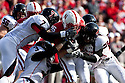 17 October 2009: Nebraska wide receiver Tim Marlowe 17 yard return for 17 yards  to the Nebraska 23 yard line against Texas Tech at Memorial Stadium, Lincoln, Nebraska. Texas Tech defeats Nebraska 31 to 10.