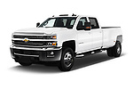 2017 Chevrolet Silverado-3500HD LT-Crew-DRW 4 Door Pick-up Angular Front stock photos of front three quarter view