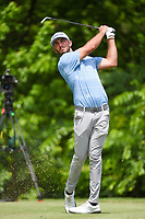 Max Homa (USA) watches his tee shot on 8 during round 2 of the 2019 Charles Schwab Challenge, Colonial Country Club, Ft. Worth, Texas,  USA. 5/24/2019.<br /> Picture: Golffile   Ken Murray<br /> <br /> All photo usage must carry mandatory copyright credit (© Golffile   Ken Murray)