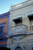 Restored 19th century buildings in old Mazatlan, Sinaloa, Mexico