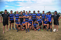 The Wanganui men's team. 2017 Bayleys Central Regional Sevens at Playford Park in Levin, New Zealand on Saturday, 9 December 2017. Photo: Dave Lintott / lintottphoto.co.nz