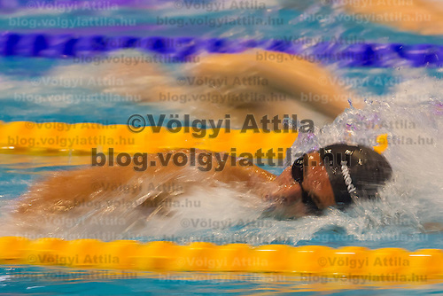 Gregorio Paltrinieri of Italy competes in the Men's 1500m Freestyle semi-final of the 31th European Swimming Championships in Debrecen, Hungary on May 23, 2012. ATTILA VOLGYI