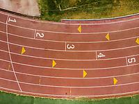 Vista aerea de Complejo deportivo de la Comisión Estatal de Deporte, CODESON en Hermosillo, Sonora....<br /> <br /> Pista de Atletismo. 1, 2, 3, 4, 5, Primero, Segundo, Tercero, Cuarto,  Quinto, Lugar, Lugares, Orden.<br /> <br /> Photo: (NortePhoto / LuisGutierrez)<br /> <br /> ...<br /> keywords: