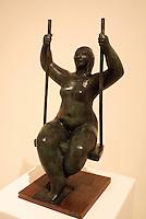 Mujer en Trapecio (1995) by Leonidas Ostorgo, Museo de Arte de El Salvador (MARTE), San Salvador, El Salvador