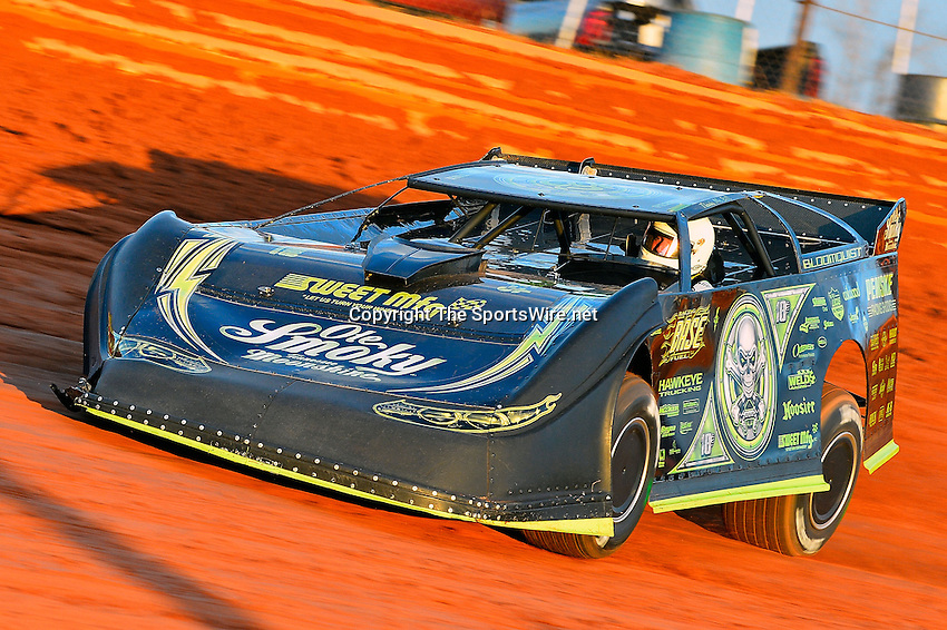 Feb 08, 2014; 6:45:39 PM; Waynesville, GA., USA; The Lucas Oil Late Model Dirt Series running The Georgia Boot Super Bowl of Racing at Golden Isles Speedway.  Mandatory Credit: (thesportswire.net)