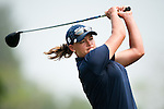 CHON BURI, THAILAND - FEBRUARY 17:  Katherine Hull of Australia tees off on the 11th hole during day two of the LPGA Thailand at Siam Country Club on February 17, 2012 in Chon Buri, Thailand.  Photo by Victor Fraile / The Power of Sport Images