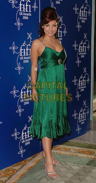 ROXANNE PALLETT.UK FiFi Awards 2006 Dorchester Hotel, London, UK..March 27th, 2006 .Ref: CAN.full length green dress plaster bandage.www.capitalpictures.com.sales@capitalpictures.com.©Capital Pictures
